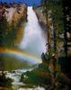 Водопад Невада. Радуга. Йосемитский Национальный парк. Калифорния