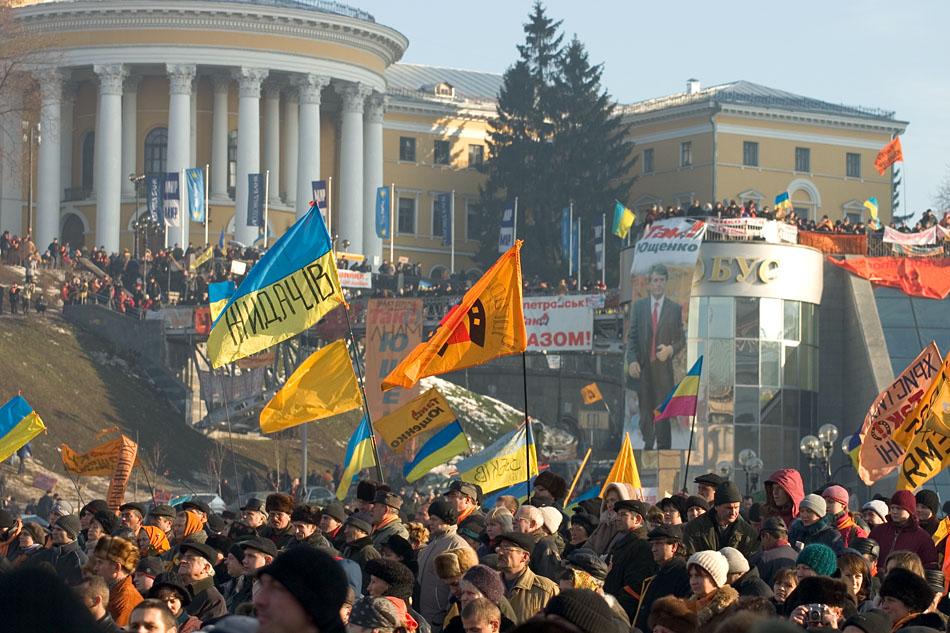В Киев опять везут демонстрантов