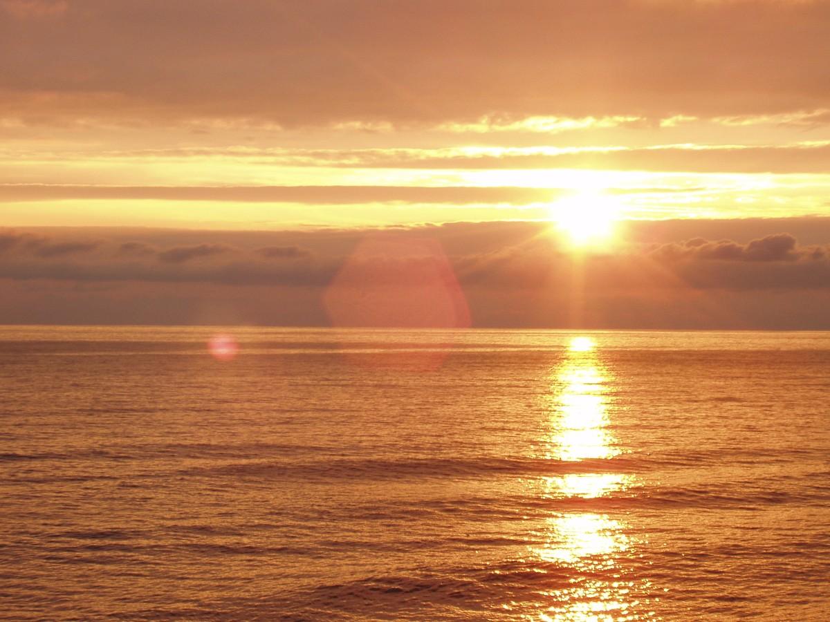 Картинка море и рассвет