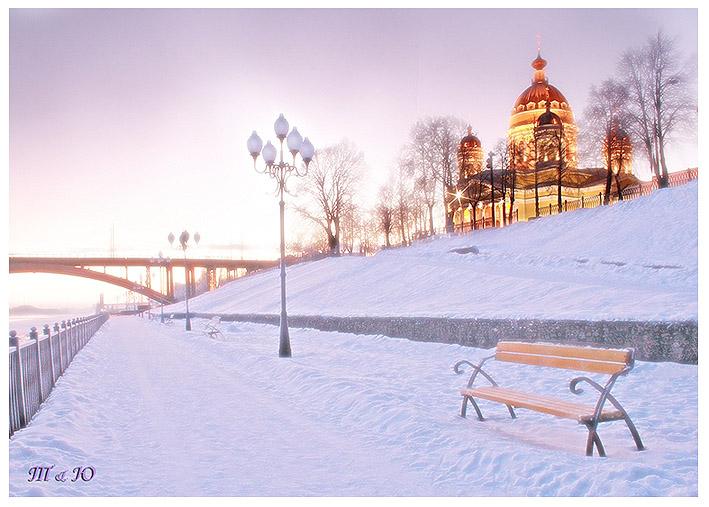 Фото зимнего пейзажа с девушками