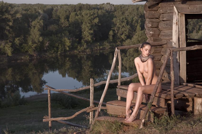 В эротика баня деревне