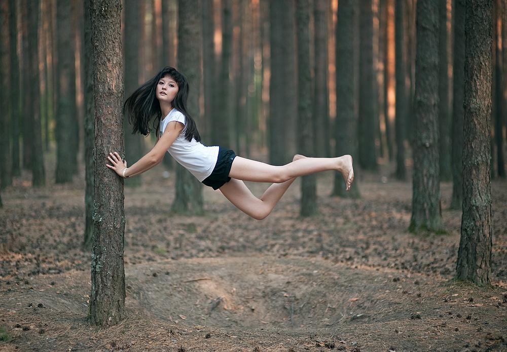 Фото девушек в лесу лето 3