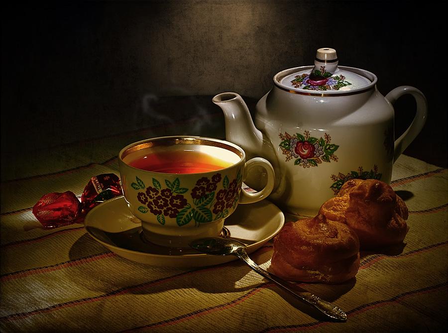 Картинки с приглашением на чай, можно написать