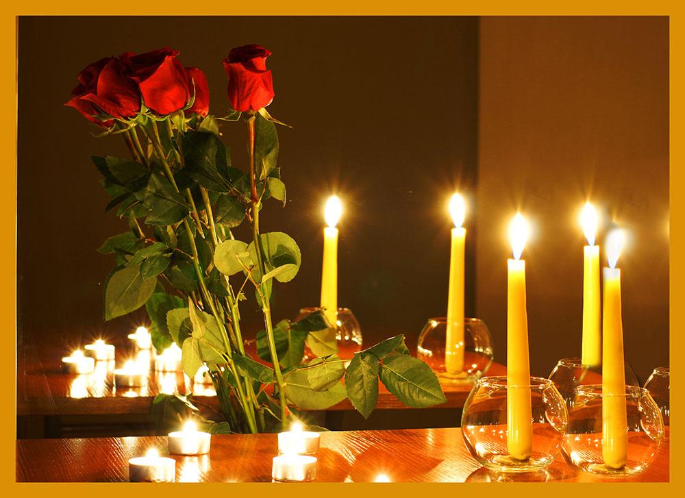 Гифка романтический вечер при свечах