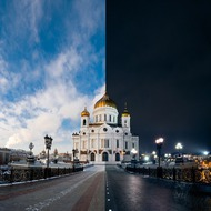 Храм Христа Спасителя Day and Night