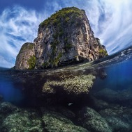 Thailand lone rock in the Andaman Sea (dml-fotoart)