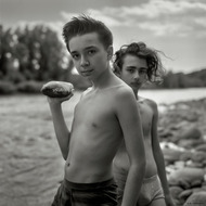 Artem and Yuri. Ticino river, Lombardy, Italy 2017.